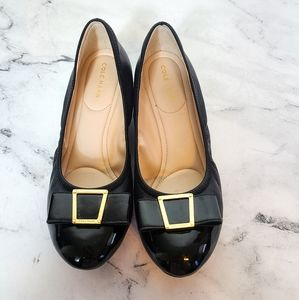 Cole Haan Tali Bow Wedge Leather Flats 7